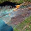 NASA从太空视角航拍肆虐的加州野火