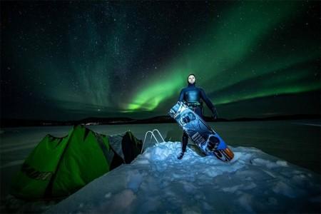 极寒挑战:佳能C200在欧洲最北端拍摄风筝冲浪视频