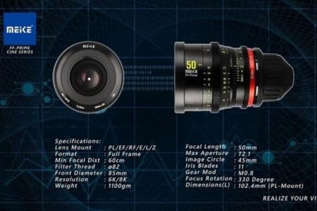 美科将推出全画幅镜头50mm T2.1 FF-Prime