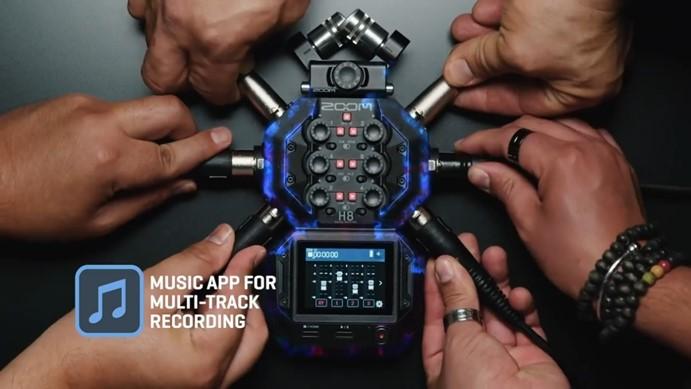 真是个性的设计啊!Zoom录音机升级到H8