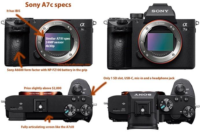 索尼官方宣布将发布A7C微单